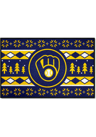 Milwaukee Brewers 19x30 Holiday Sweater Starter Interior Rug