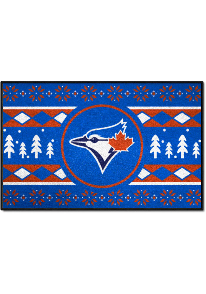 Toronto Blue Jays 19x30 Holiday Sweater Starter Interior Rug - Image 1