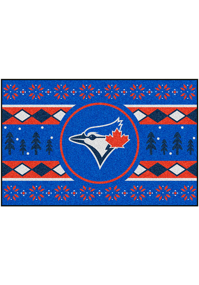 Toronto Blue Jays 19x30 Holiday Sweater Starter Interior Rug - Image 2