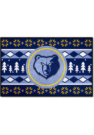 Memphis Grizzlies 19x30 Holiday Sweater Starter Interior Rug