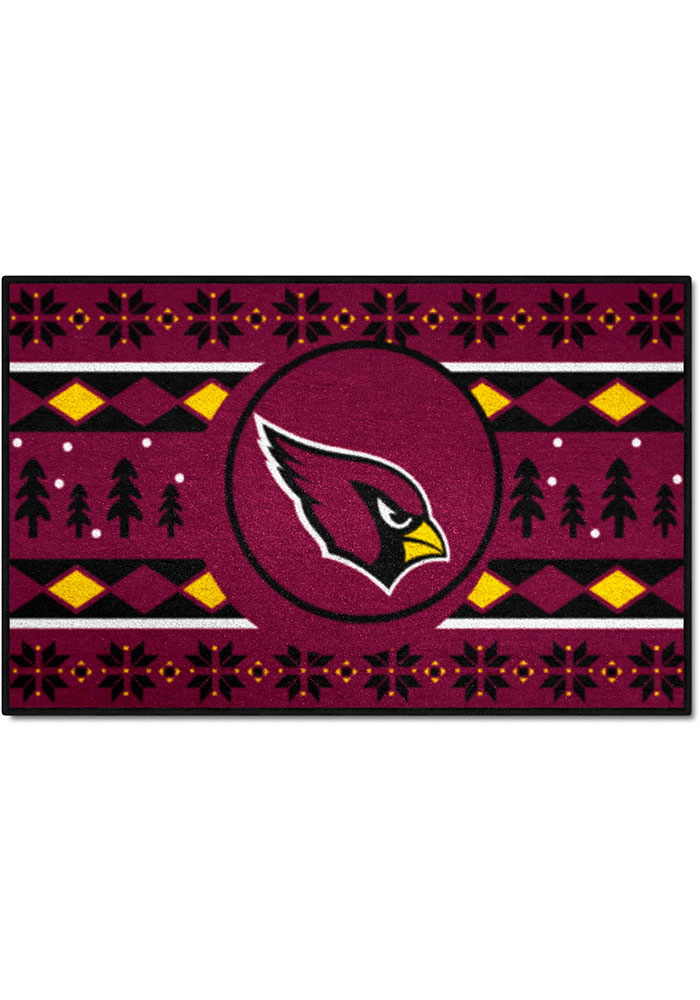 Arizona Cardinals 19x30 Holiday Sweater Starter Interior Rug - Image 1