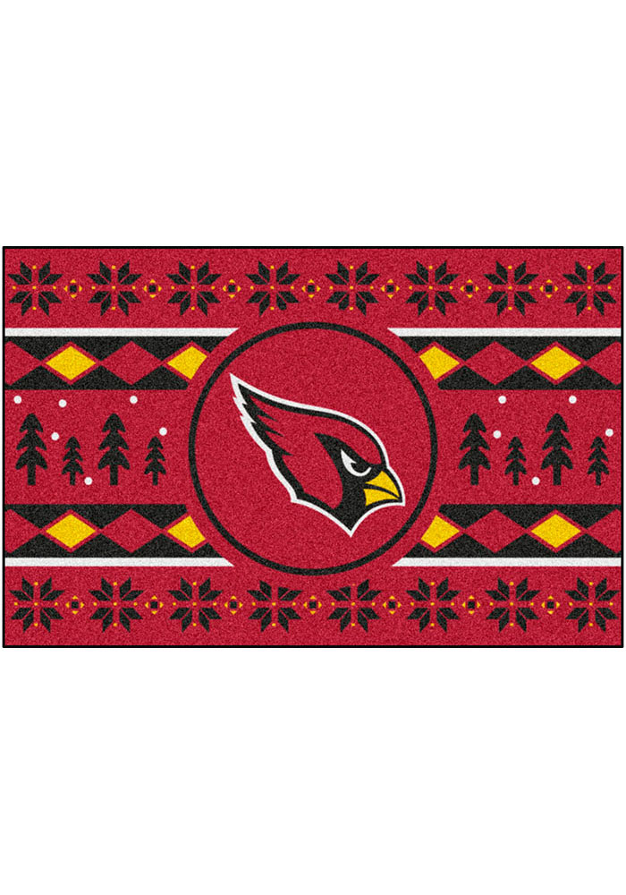 Arizona Cardinals 19x30 Holiday Sweater Starter Interior Rug - Image 2