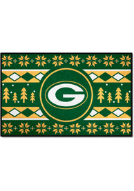 Green Bay Packers 19x30 Holiday Sweater Starter Interior Rug