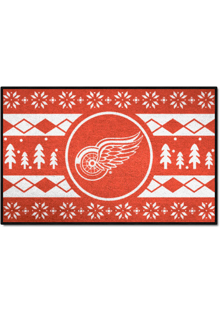 Detroit Red Wings 19x30 Holiday Sweater Starter Interior Rug - Image 1