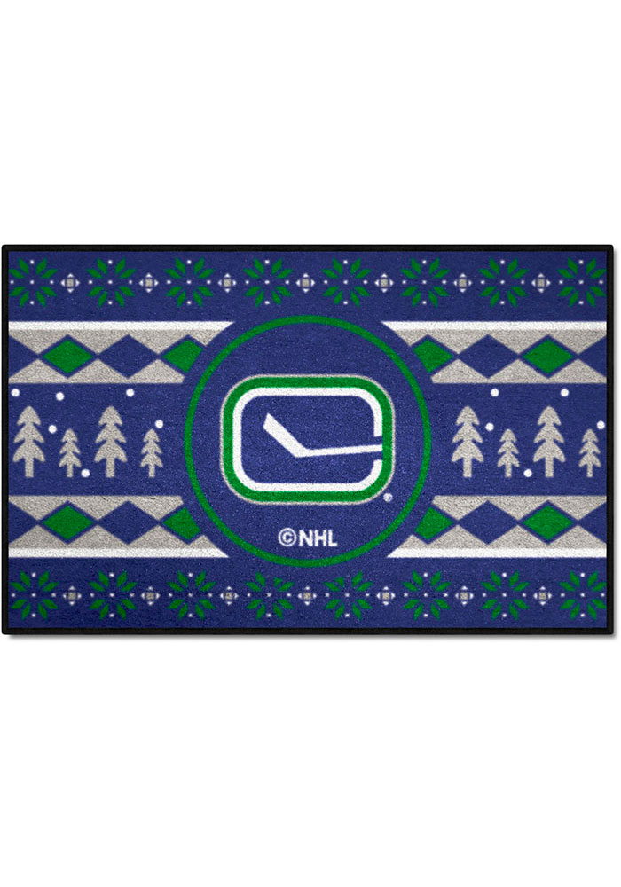 Vancouver Canucks 19x30 Holiday Sweater Starter Interior Rug