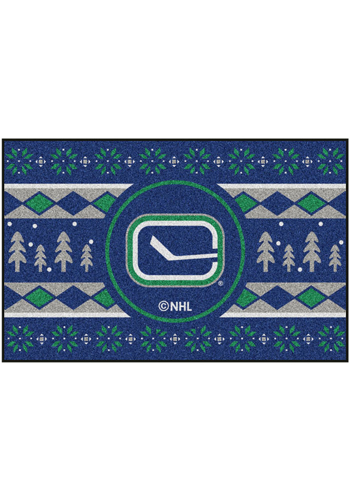 Vancouver Canucks 19x30 Holiday Sweater Starter Interior Rug - Image 2