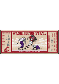 Washington State Cougars 30x72 Ticket Runner Interior Rug