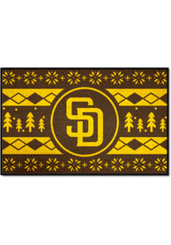 San Diego Padres 19x30 Holiday Sweater Starter Interior Rug