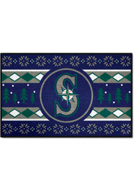 Seattle Mariners 19x30 Holiday Sweater Starter Interior Rug