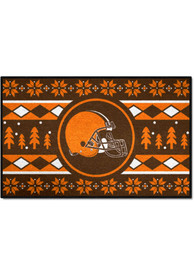 Cleveland Browns 19x30 Holiday Sweater Starter Interior Rug