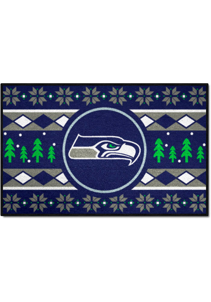 Seattle Seahawks 19x30 Holiday Sweater Starter Interior Rug