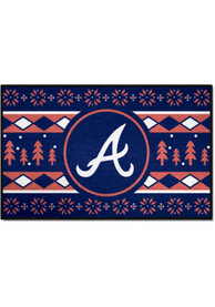 Atlanta Braves 19x30 Holiday Sweater Starter Interior Rug