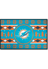 Miami Dolphins 19x30 Holiday Sweater Starter Interior Rug