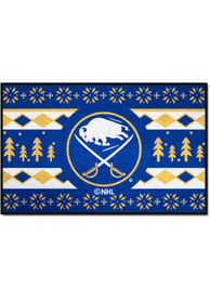 Buffalo Sabres 19x30 Holiday Sweater Starter Interior Rug