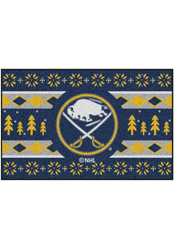 Buffalo Sabres 19x30 Holiday Sweater Starter Interior Rug - Image 2