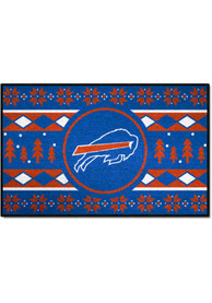 Buffalo Bills 19x30 Holiday Sweater Starter Interior Rug