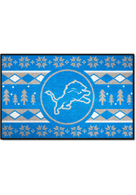 Detroit Lions 19x30 Holiday Sweater Starter Interior Rug