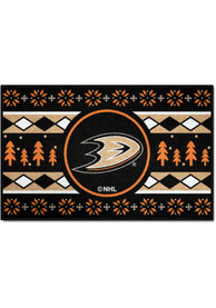 Anaheim Ducks 19x30 Holiday Sweater Starter Interior Rug
