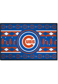 Chicago Cubs 19x30 Holiday Sweater Starter Interior Rug