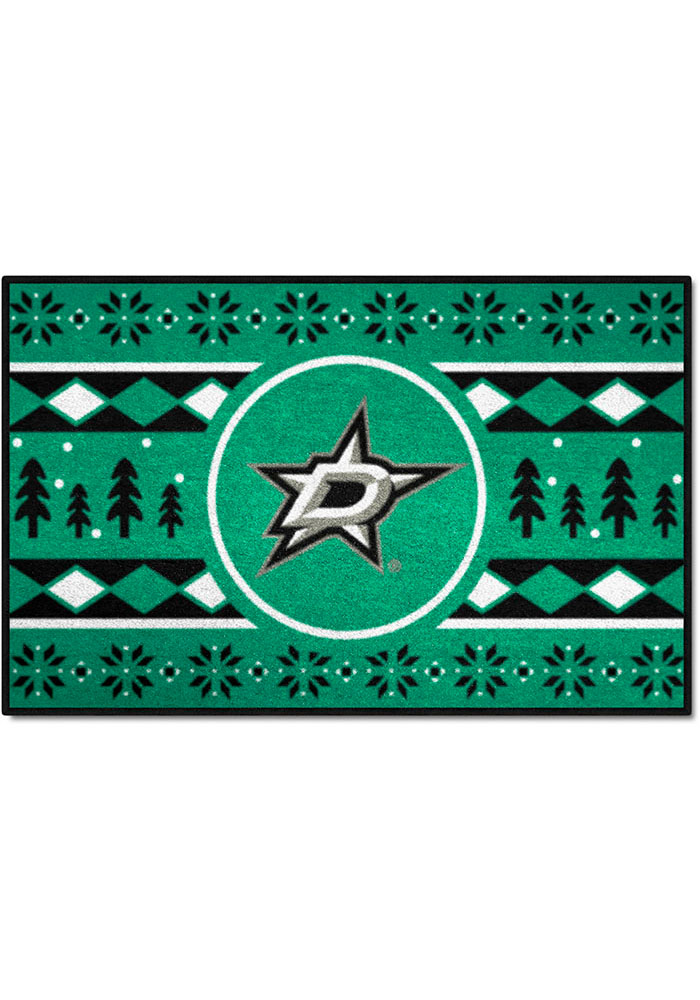 Dallas Stars 19x30 Holiday Sweater Starter Interior Rug - Image 1