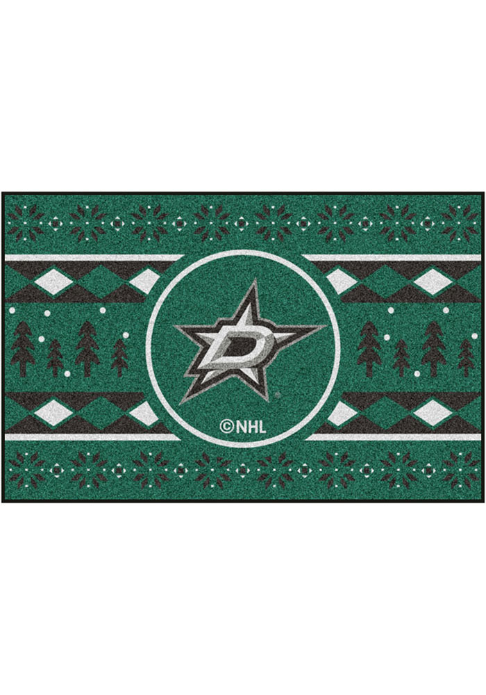 Dallas Stars 19x30 Holiday Sweater Starter Interior Rug - Image 2
