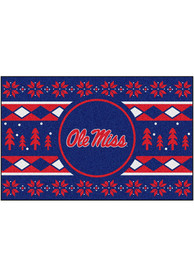 Ole Miss Rebels 19x30 Holiday Sweater Starter Interior Rug