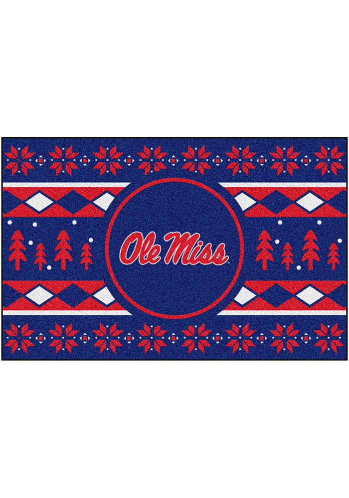 Ole Miss Rebels 19x30 Holiday Sweater Starter Interior Rug - Image 2