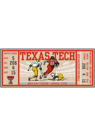 Texas Tech Red Raiders 30x72 Ticket Runner Interior Rug