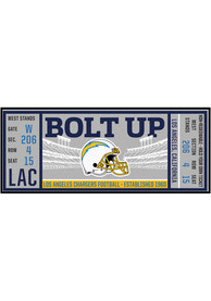Los Angeles Chargers 30x72 Ticket Runner Interior Rug