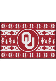 Oklahoma Sooners 19x30 Holiday Sweater Starter Interior Rug