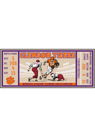 Clemson Tigers 30x72 Ticket Runner Interior Rug