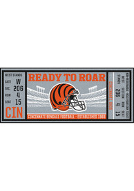 Cincinnati Bengals 30x72 Ticket Runner Interior Rug