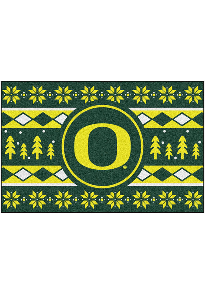 Oregon Ducks 19x30 Holiday Sweater Starter Interior Rug - Image 2