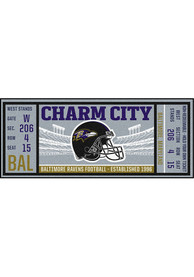 Baltimore Ravens 30x72 Ticket Runner Interior Rug