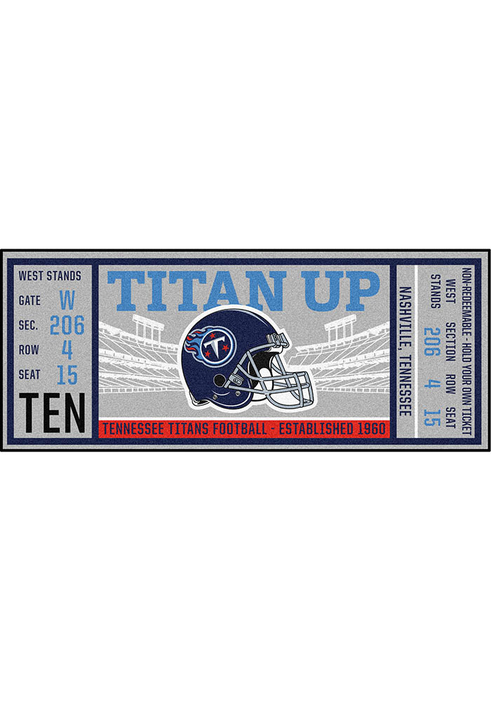 Tennessee Titans 30x72 Ticket Runner Interior Rug - Image 1