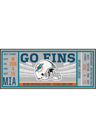Miami Dolphins 30x72 Ticket Runner Interior Rug