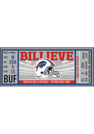 Buffalo Bills 30x72 Ticket Runner Interior Rug