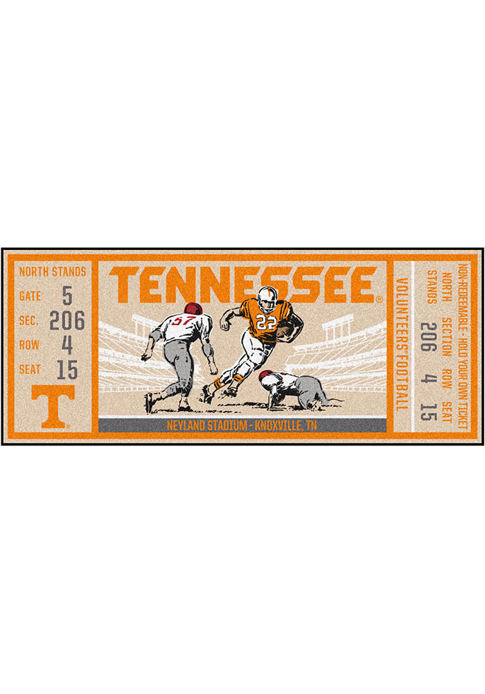 Tennessee Volunteers 30x72 Ticket Runner Interior Rug