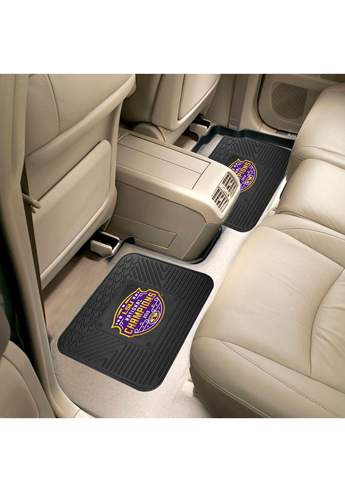 Sports Licensing Solutions LSU Tigers 2019 National Champions 14x17 Car Mat - Black - Image 1
