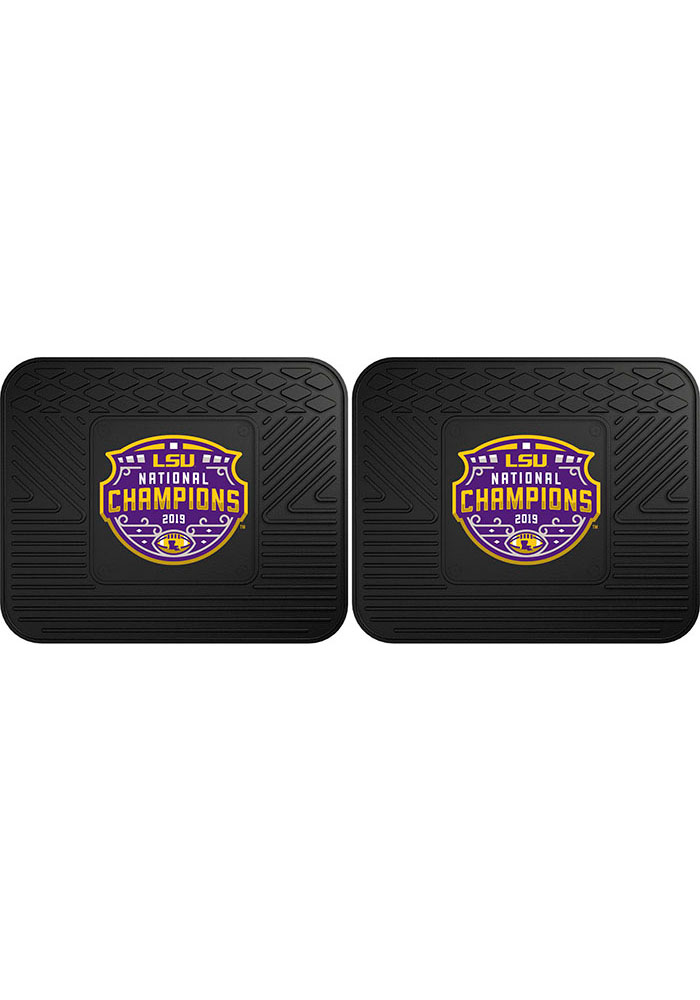 Sports Licensing Solutions LSU Tigers 2019 National Champions 14x17 Car Mat - Black - Image 2