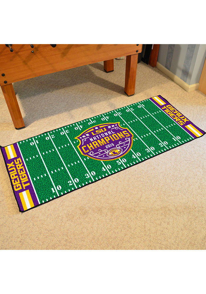 LSU Tigers 2019 National Champions Field Interior Rug - Image 1