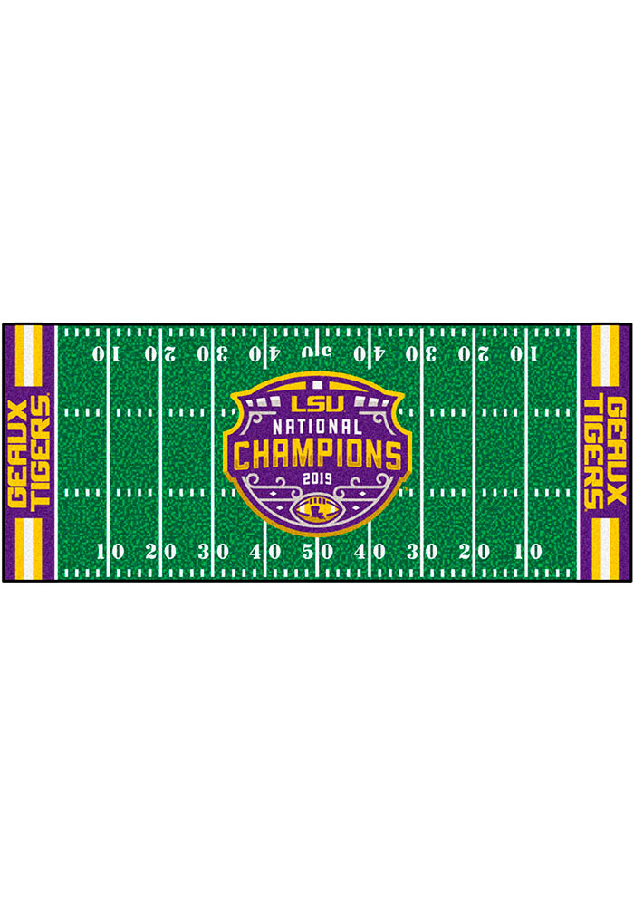 LSU Tigers 2019 National Champions Field Interior Rug - Image 2
