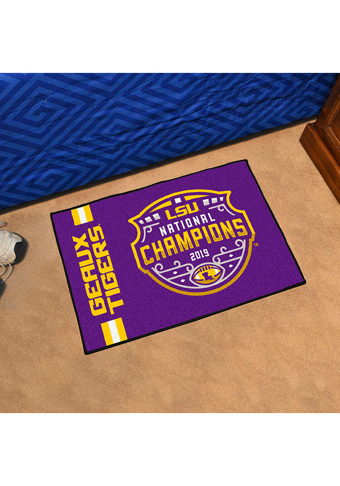 LSU Tigers 2019 National Champions Starter Interior Rug - Image 1