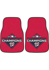 Sports Licensing Solutions Washington Nationals 2019 World Series Champs 2-Piece Carpet Car Mat - Red