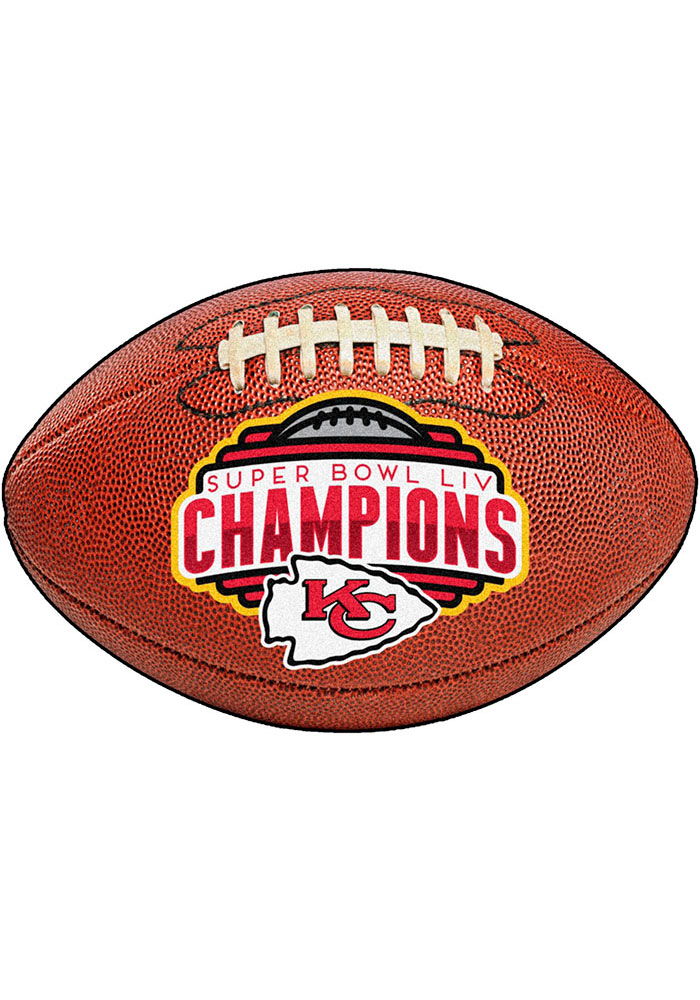 Kansas City Chiefs Super Bowl LIV Champions Football Interior Rug - Image 2