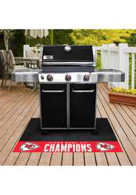 Kansas City Chiefs Super Bowl LIV Champions BBQ Grill Mat
