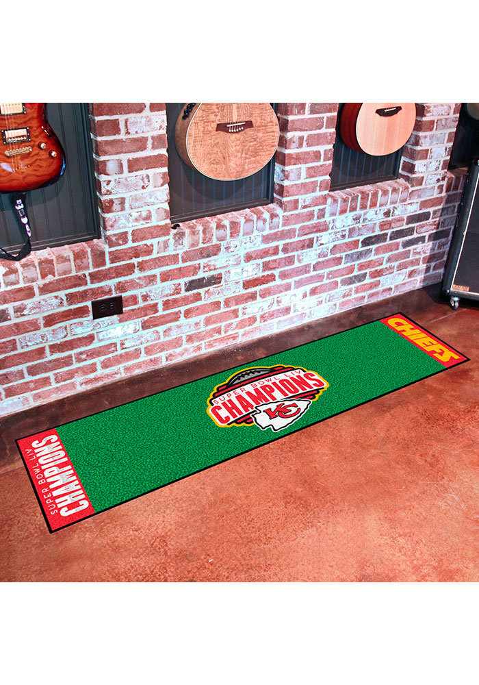 Kansas City Chiefs Super Bowl LIV Champions Putting Interior Rug - Image 1