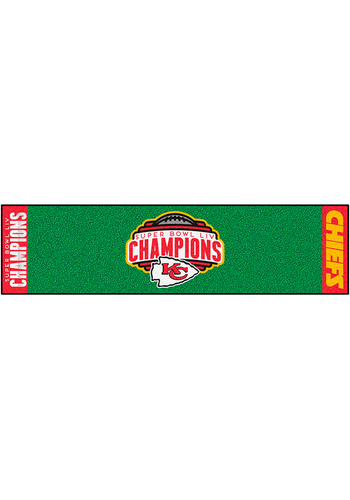 Kansas City Chiefs Super Bowl LIV Champions Putting Interior Rug - Image 2