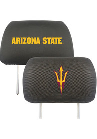 Sports Licensing Solutions Arizona State Sun Devils 10x13 Auto Head Rest Cover - Black