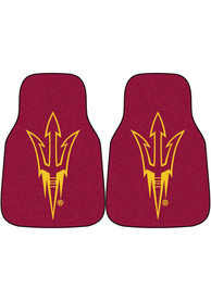 Sports Licensing Solutions Arizona State Sun Devils 2-Piece Carpet Car Mat - Red